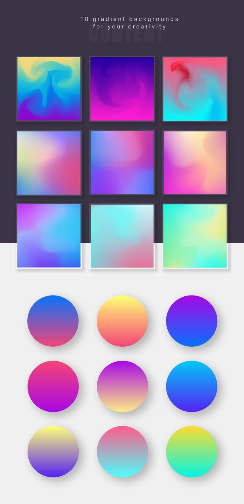 18 Gradient Backgrounds