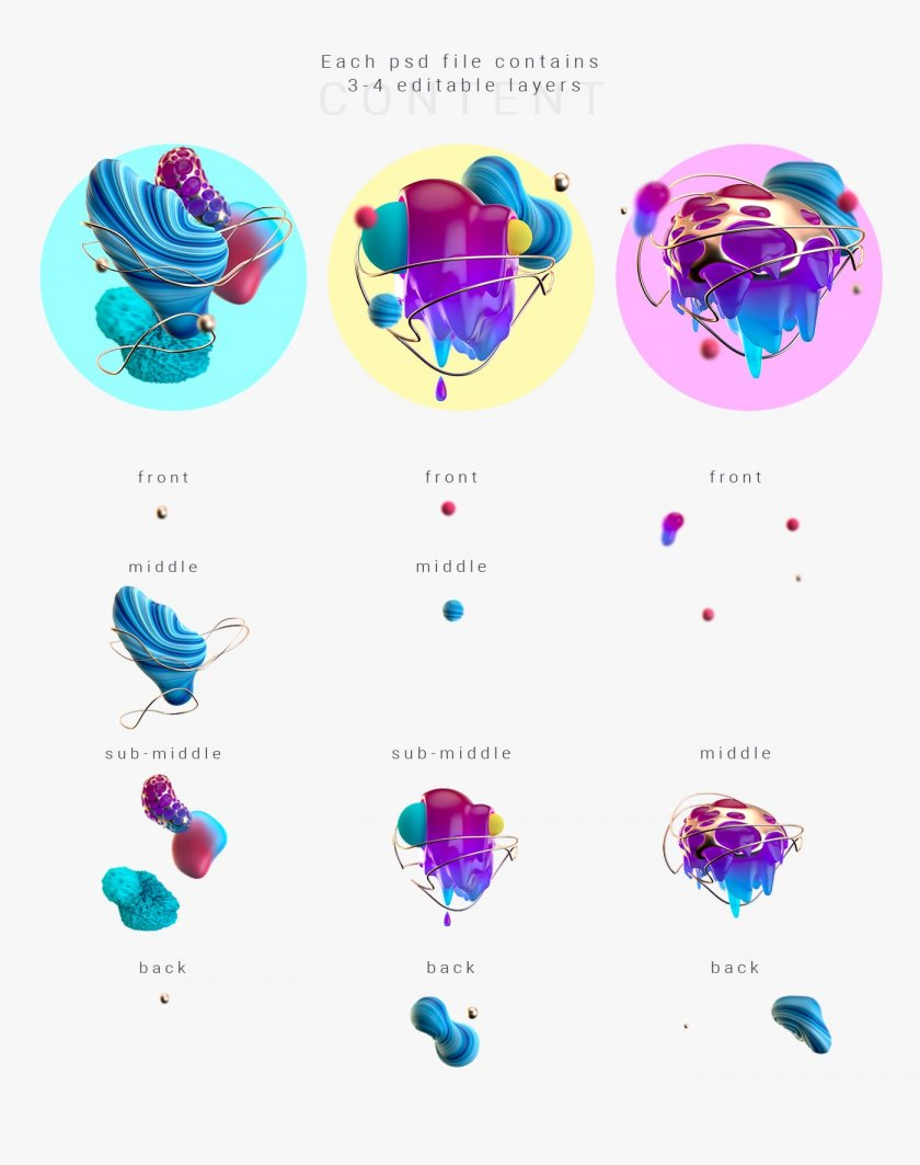 Amazing Abstract 3D Shapes