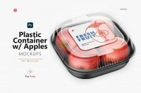 Plastic Box with Apples Mockup cover