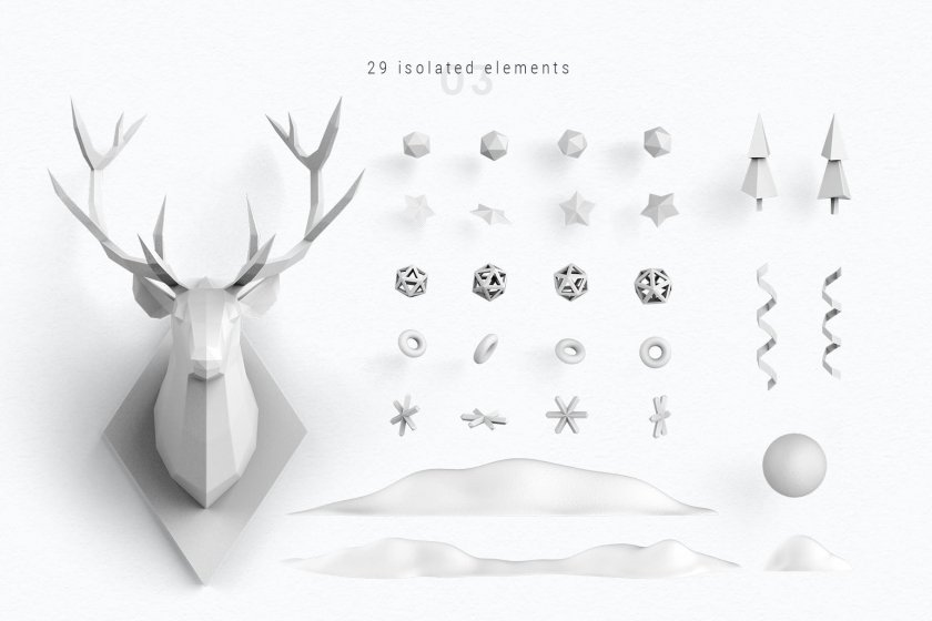 Christmas 29 isolated elements