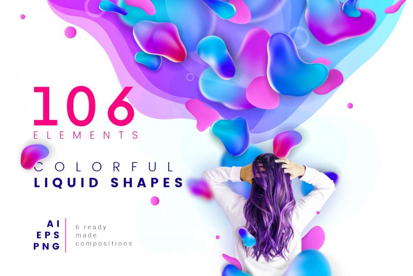 Colorful Liquid Shapes Cover