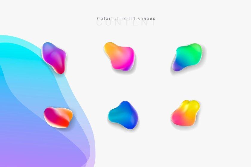 Liquid Shapes Preview 01
