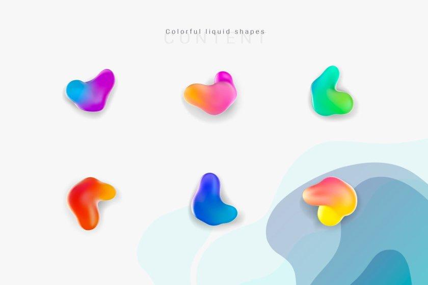 Liquid Shapes Preview 04