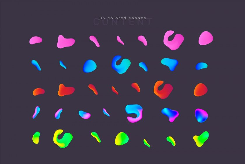35 Colored Shapes