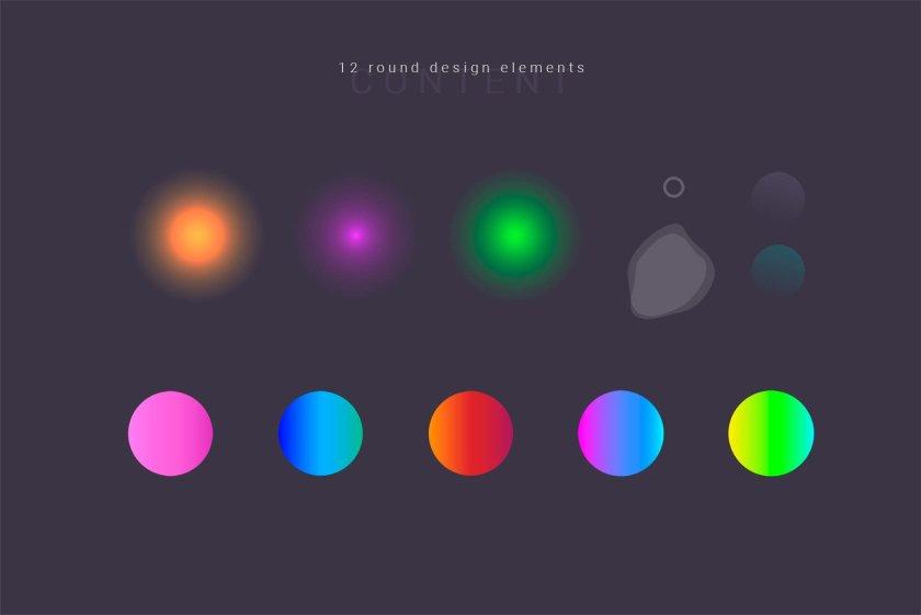 12 Round Design Elements