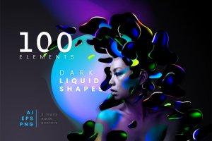 Dark Liquid Shapes Cover