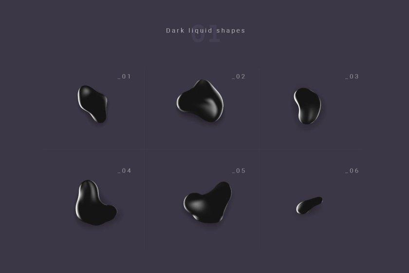 Dark Fluid Forms 01