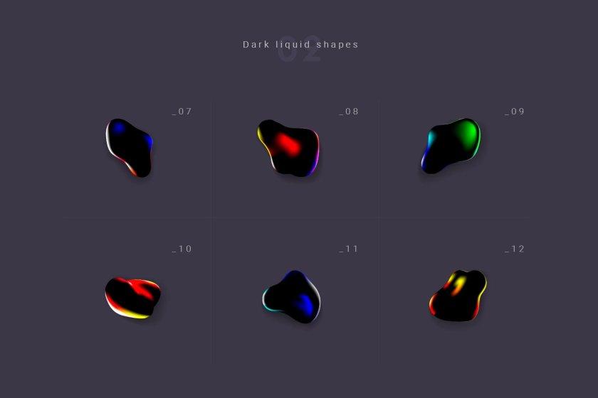 Dark Fluid Forms 02