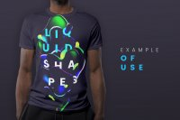 Dark Liquid Shapes on T-shirt