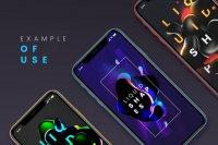 Dark Liquid Shapes on Phone