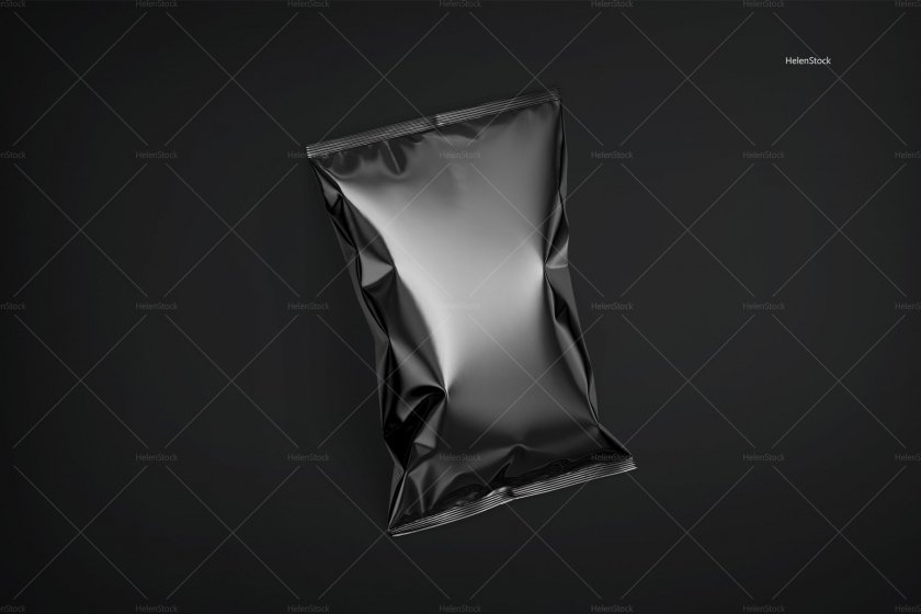 Tilted Glossy Chips Package Black