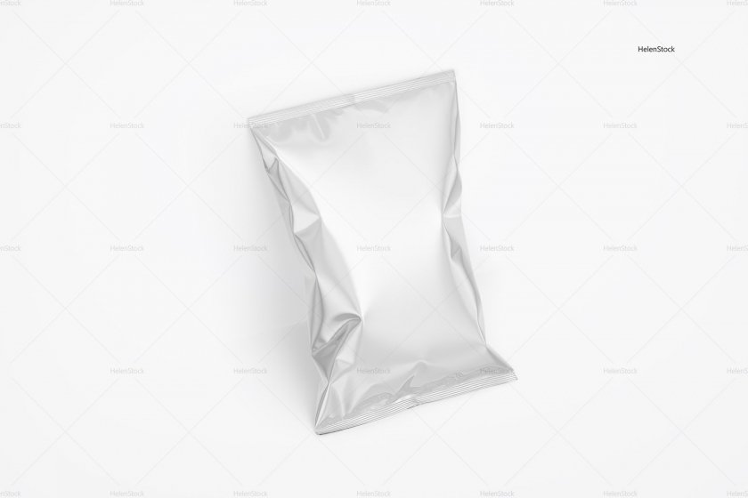 Tilted Glossy Chips Package White