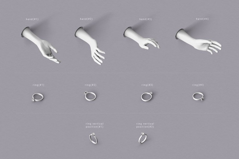 set of graphic elements
