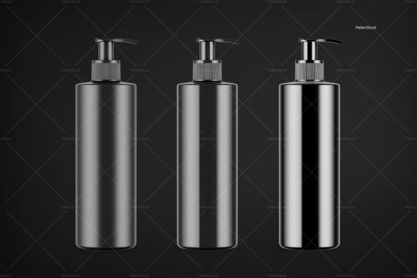 Soap Bottle Mockups Black