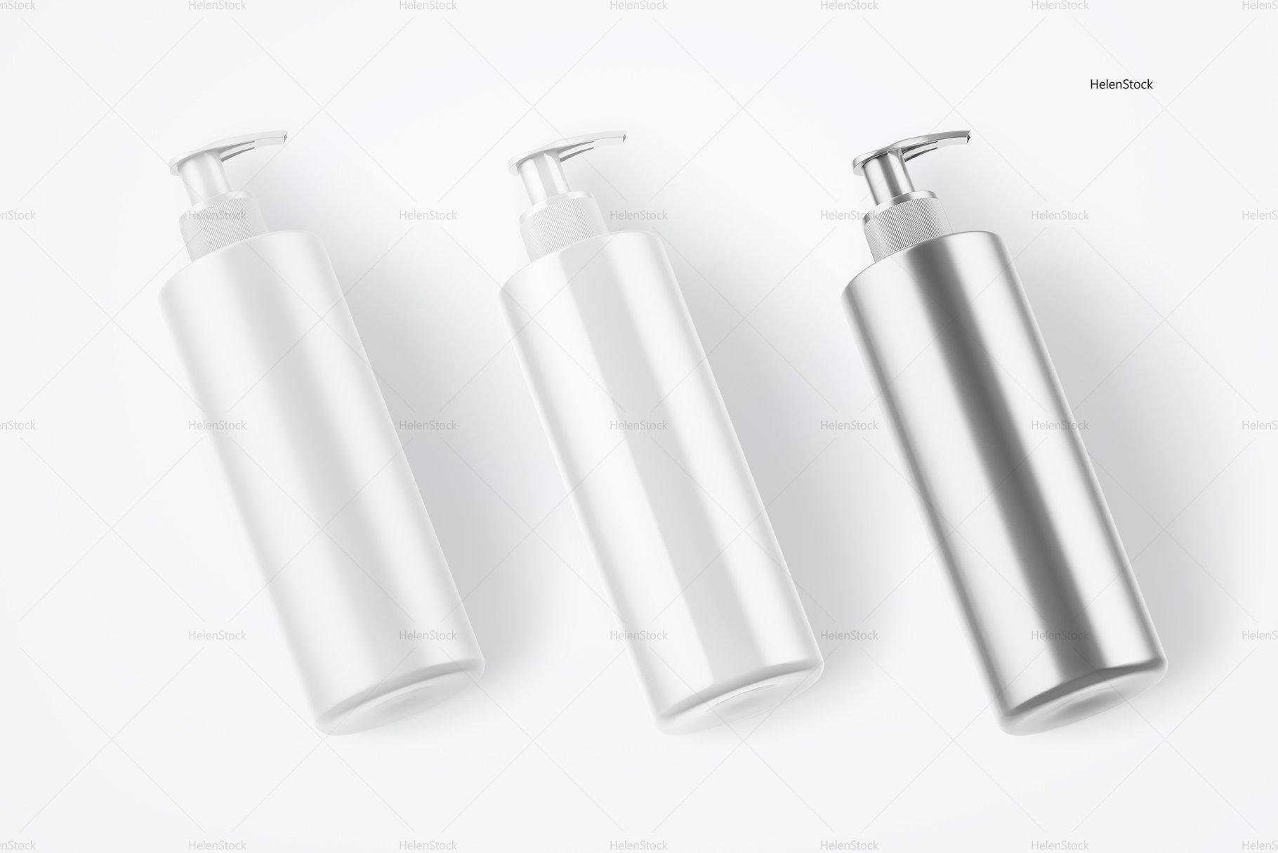 Soap Bottle Mockups White