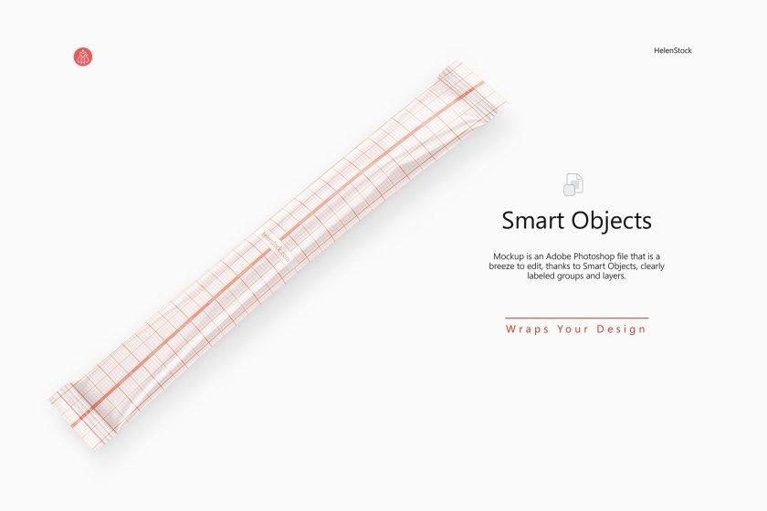 Coffee Stick Sachet Warp Grid